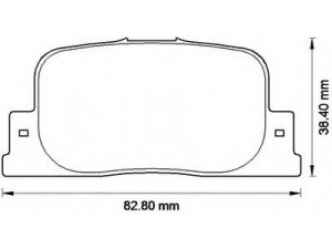 Колодки тормозные задние VK TECHNOLOGY VT 32097 для LEXUS RX RX300/RX350/RX400h