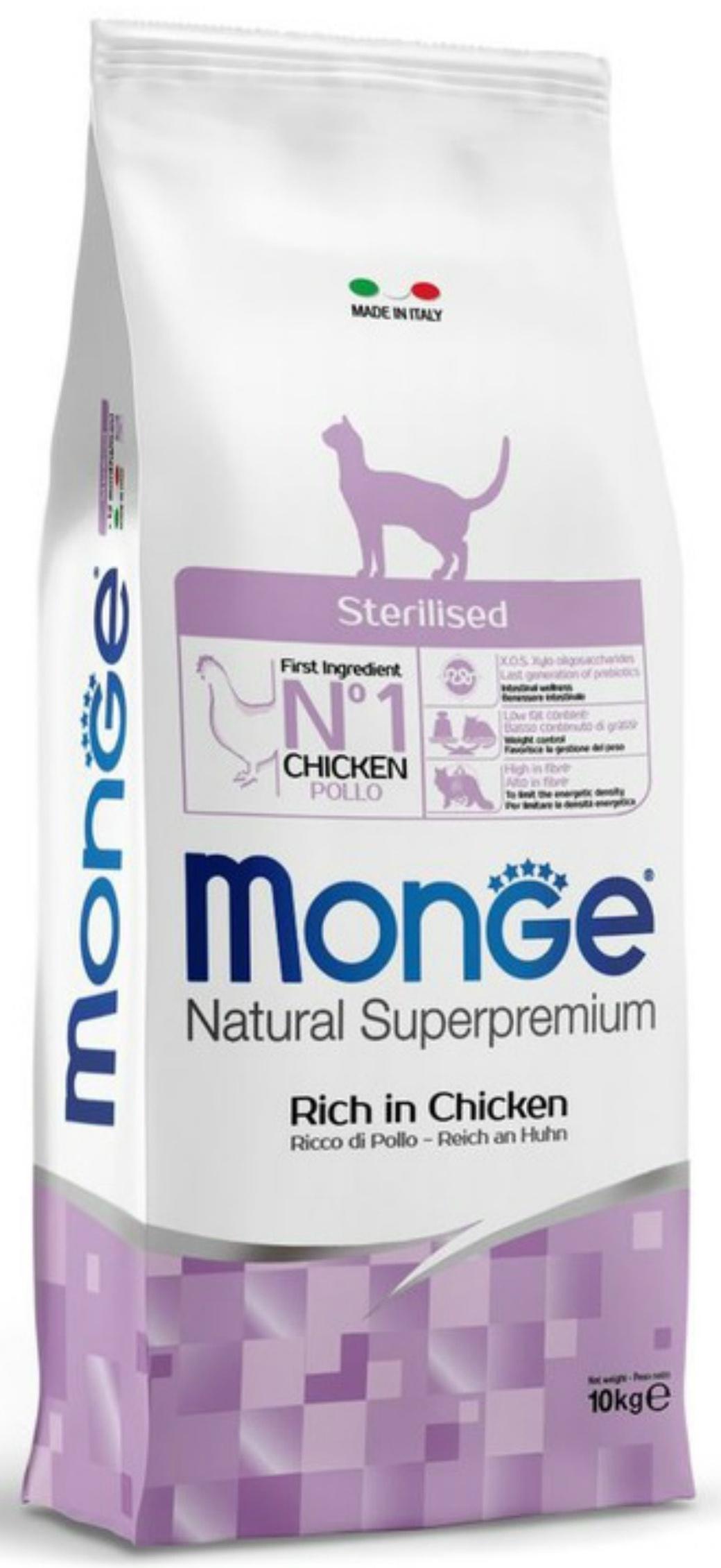 Monge Cat Sterilised корм для стерилизованных кошек с курицей 10 кг