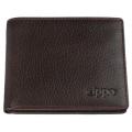 Портмоне Zippo, цвет коричневый, натуральная кожа, 10,8×1,8×8,6 см