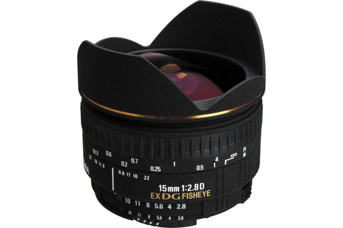 Sigma AF 15mm f/2.8 EX DG Diagonal Fisheye Nikon F  X0081