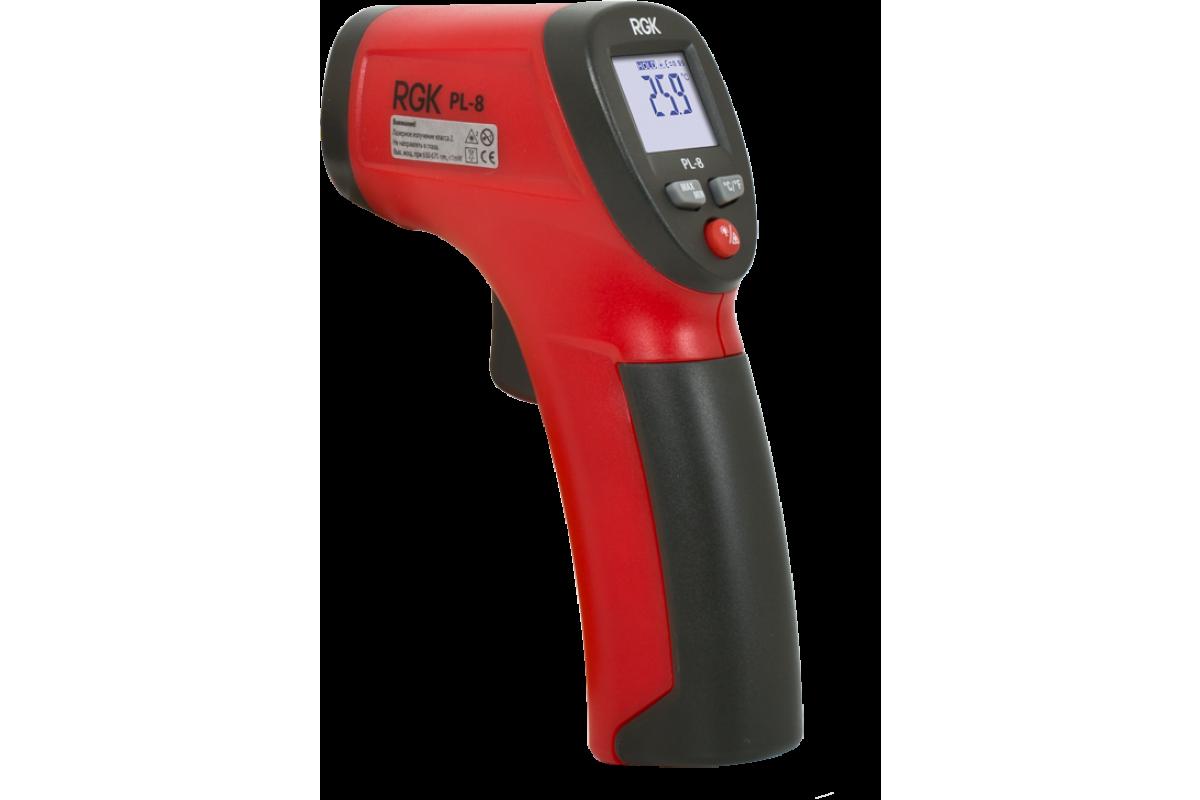 Пирометр (термодетектор) RGK PL-8  -30+260°C оптическое разрешение8:1 точность±2.0% или 2.0°C