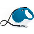 Поводок-рулетка Flexi New Classic лента M 5m 25 кг голубой
