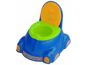 Marian Plast Горшок детский с крышкой (синий, зеленый, оранжевый) 531