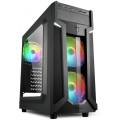 Компьютерный корпус Sharkoon VG6-W RGB led, черный