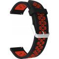 Ремешок перфорированный 20мм для Amazfit GTR42мм/ GTS/ Bip/ Bip Lite, черный/красный