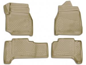 Коврики 3D в салон Element для TOYOTA Land Cuiser (J100), 1998-2007, П.Р. 4WD, дизель, АКПП, 4 шт. (полиуретан, бежевые), ELEMENT3D48139212