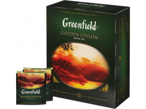 Чай черный Greenfield Golden Ceylon в пакетиках 100шт