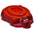 Marian Plast Песочница-бассейн - Собачка с крышкой (красный, оранжевый) 432