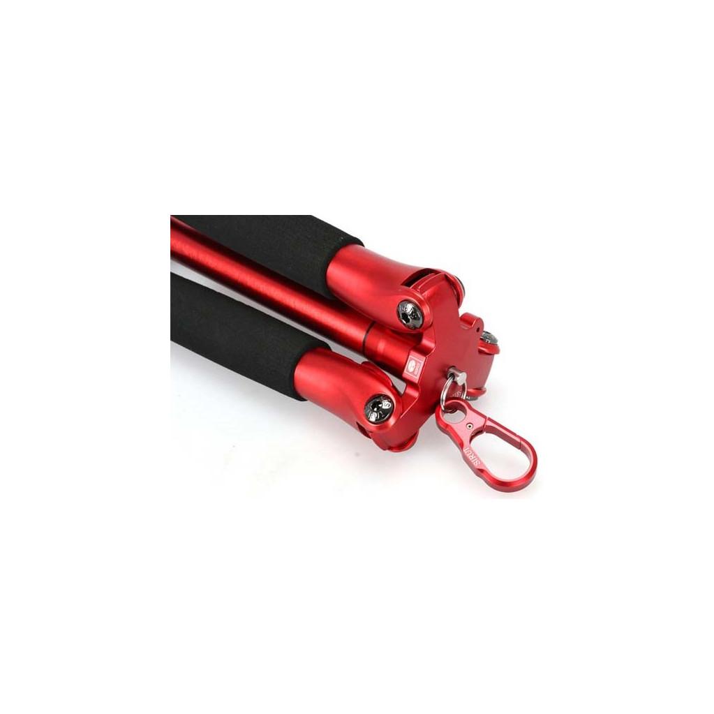 Штатив Sirui T-005SR+B-00R алюминиевый сплав (с головой ), красный