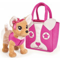 Chi-Chi love - плюшевая собачка Модница, с сумочкой в виде собачьей мордочки