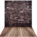 Фон виниловый Andoer 1,5 x 2м, дерево, кирпич тип 1