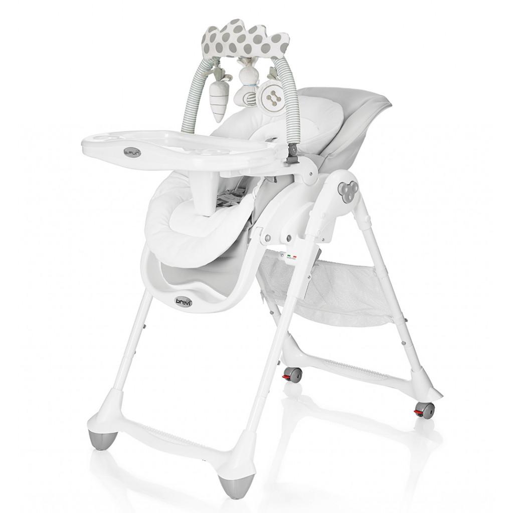Brevi B.Fun - стульчик для кормления светло-серый