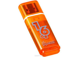 flash накопитель Smartbuy 16GB Glossy series Orange