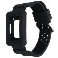 Защитный ремешок для фитнес-браслета Fitbit Charge 3, черный