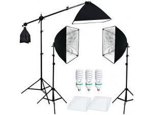 Комплект постоянного света FST ET-573 KIT флюоресцентный с сумкой 8020