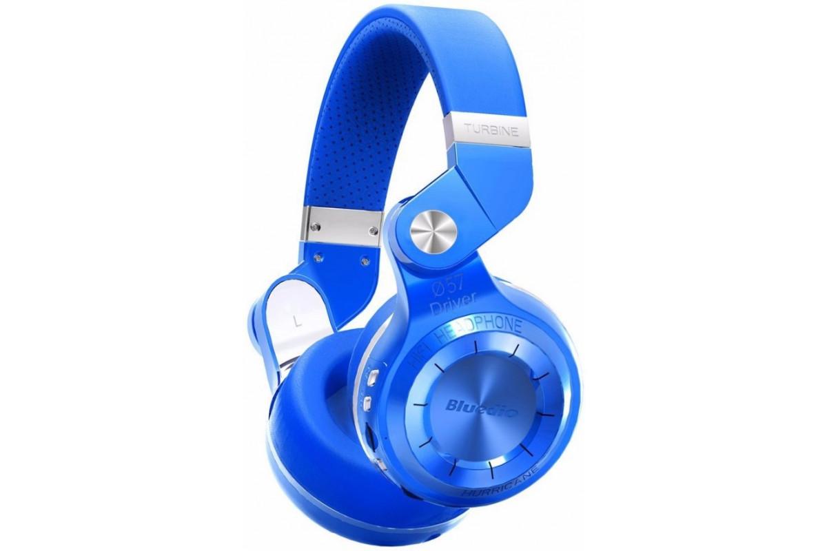 Наушники Bluedio T2+ (FM+SD), синие
