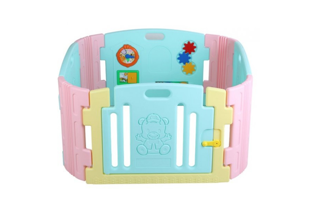 Edu-Play BR-7317PCT - детский манеж-ограждение с игровой панелью