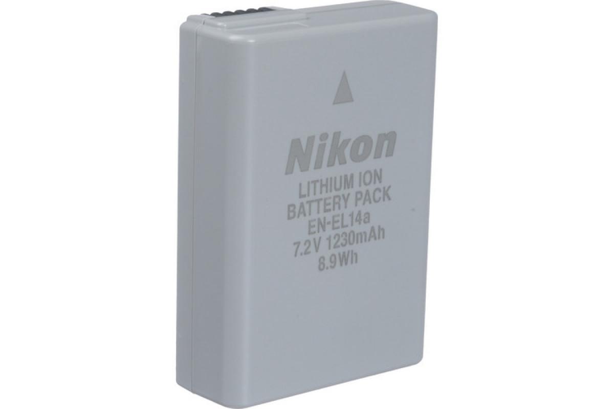 Аккумулятор Nikon EN-EL14a (для Nikon D3200, D3300, D3400, D5100, D5300, D5500)
