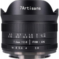 Объектив 7artisans 7.5mm F2.8 рыбий глаз 180 APS-C Canon EOSM