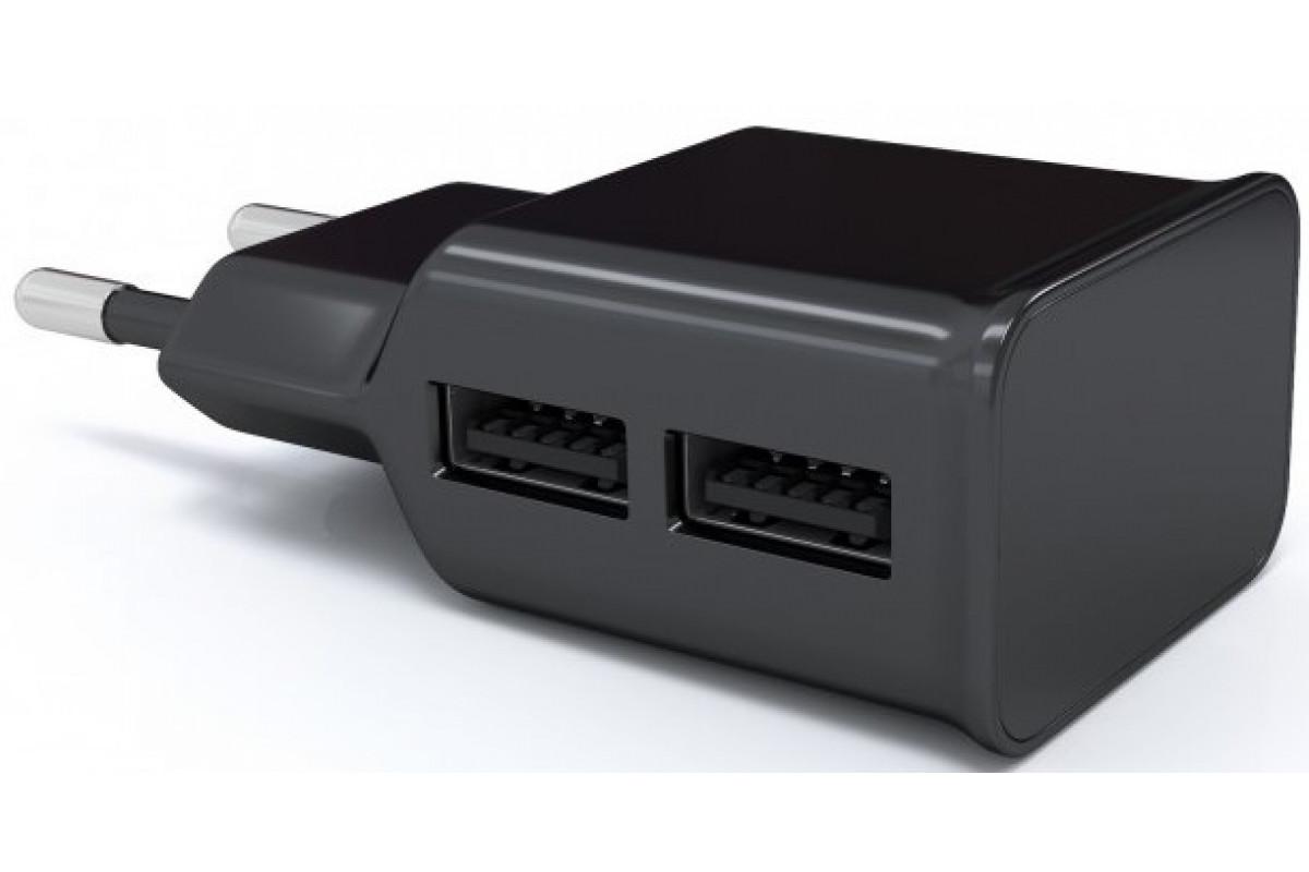 СЗУ адаптер 2 USB (модель NT-2A), 2.1A черный, Redline