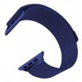 Ремешок сетчатый на магните для Apple Watch 40мм, синий