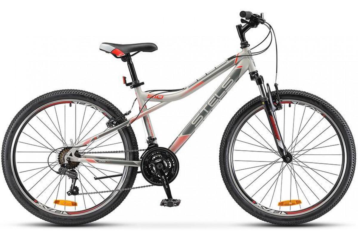 "Велосипед Stels Navigator 510 V V030 Серый/Красный (LU090376) 16"""
