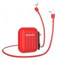 Чехол Dirose для Apple Airpods 1/2,силиконовый, водонепроницаемый, красный