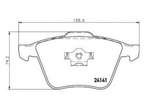 Колодки тормозные передние TEXTAR 2414101 для VOLVO XC90 17'