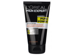 L'Oreal Men Expert Гель для умывания Пюр Пауэр черный уголь 150мл