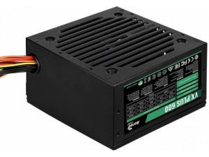 Блок питания Aerocool ATX 600W VX-600 PLUS (24+4+4pin) 120mm fan 3xSATA RTL