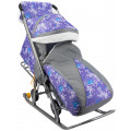 Galaxy Санки-коляска Елки, фиолетовые