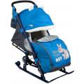 Ника Детям 7 2 - детские санки-коляска Rabbit василек