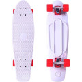 "Y-Scoo Big Fishskateboard 27"" - скейтборд с сумкой WHITE-красный"