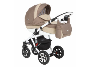 Adamex Barletta - коляска 2 в 1 Deluxe 675K (коричневый бежевая)