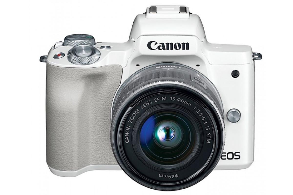 Беззеркальный фотоаппарат Canon EOS M50 kit EF-M 15-45mm f/3.5-6.3 IS STM белый