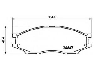 Колодки тормозные передние TEXTAR 2464701 для NISSAN ALMERA classic