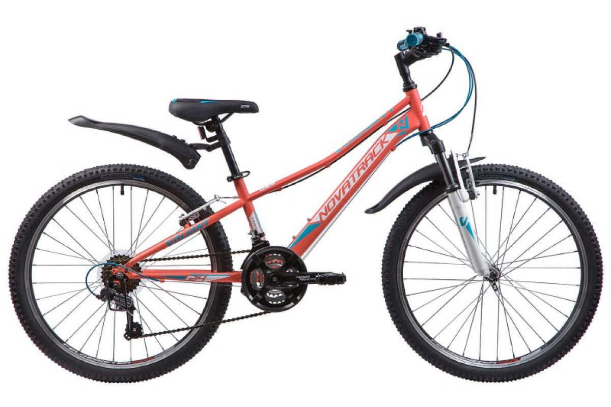 "Велосипед Novatrack 24"" Valiant сталь рама 12"", коралловый 24SH18V.VALIANT.12CRL9"