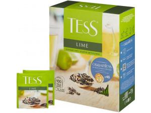 Чай зеленый Tess Лайм в пакетиках 100шт
