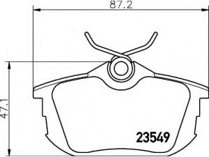Колодки тормозные задние TEXTAR 2354901 для MITSUBISHI CARISMA/COLT/SPACE STAR/ VOLVO S40/V40