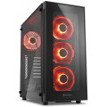 Компьютерный корпус Sharkoon TG5 Red led, черный