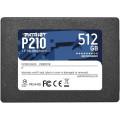 "Накопитель SSD 2.5"" Patriot 512GB P210 <P210S512G25> (SATA3, up to 520/430Mbs, 3D TLC, 7mm)"