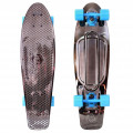 "Y-Scoo Big Fishskateboard Metallic 27"" - скейтборд с сумкой BLACK BRONZAT-Blue"
