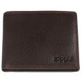 Портмоне Zippo, цвет коричневый, натуральная кожа, 10,8×2,5×8,6 см