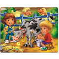 Larsen пазл Дети на ферме. Корова BM5