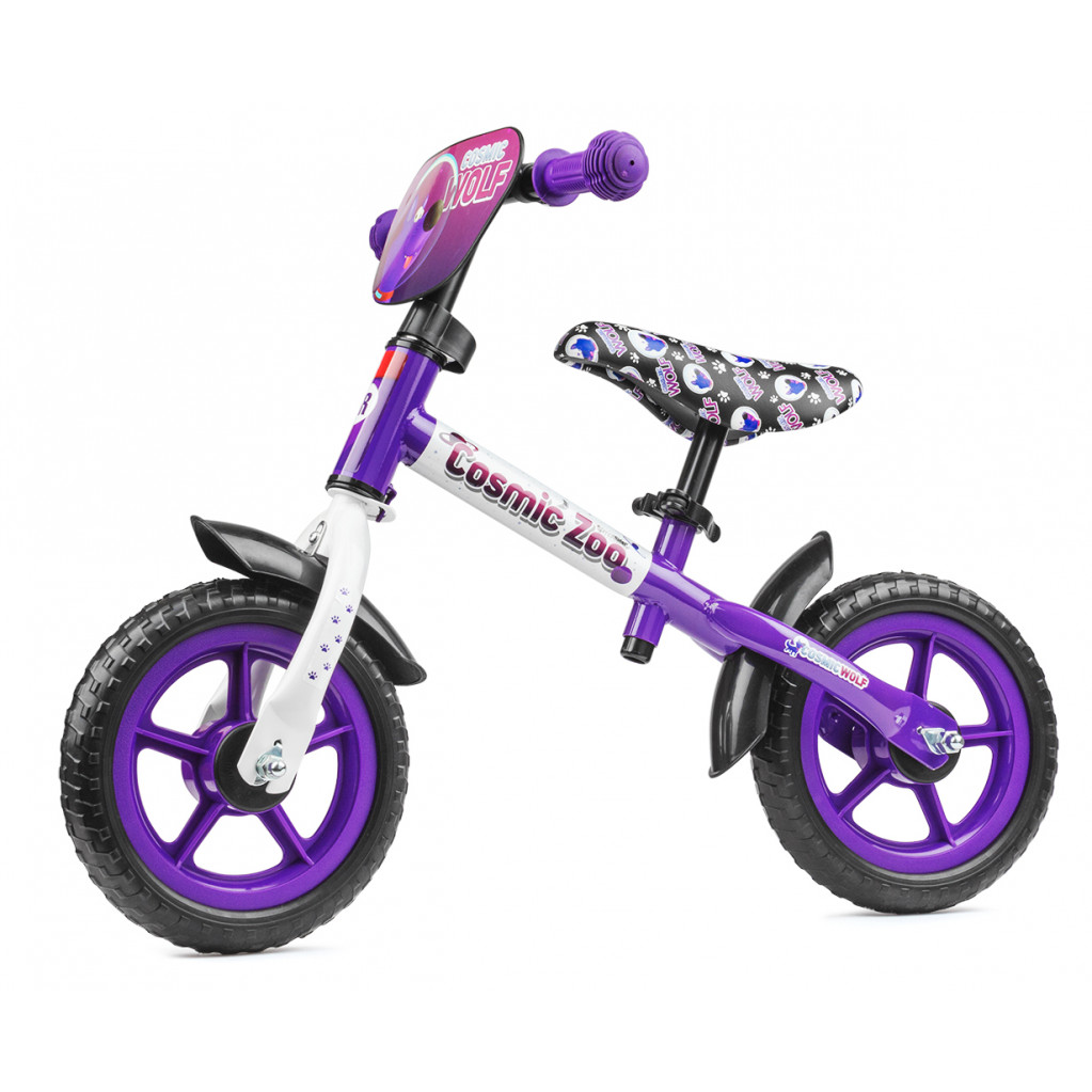 Small Rider Cosmic Zoo Ballance - беговел с доп.колесиками фиолетовый (волк)
