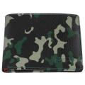 Портмоне Zippo, цвет зелёно-чёрный камуфляж, натуральная кожа, 10,8×2,5×8,6 см