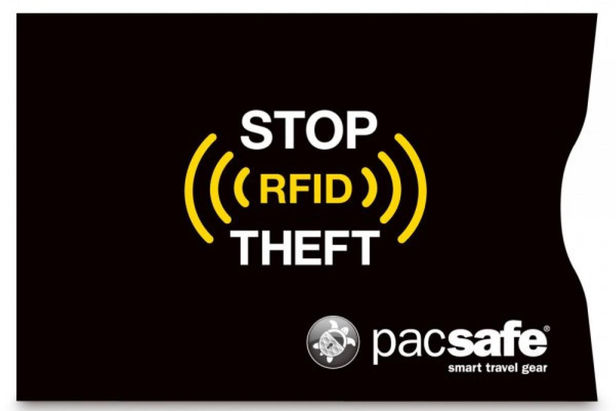 Чехол для банковских карт Pacsafe RFIDsleeve 25, черный, 10360100
