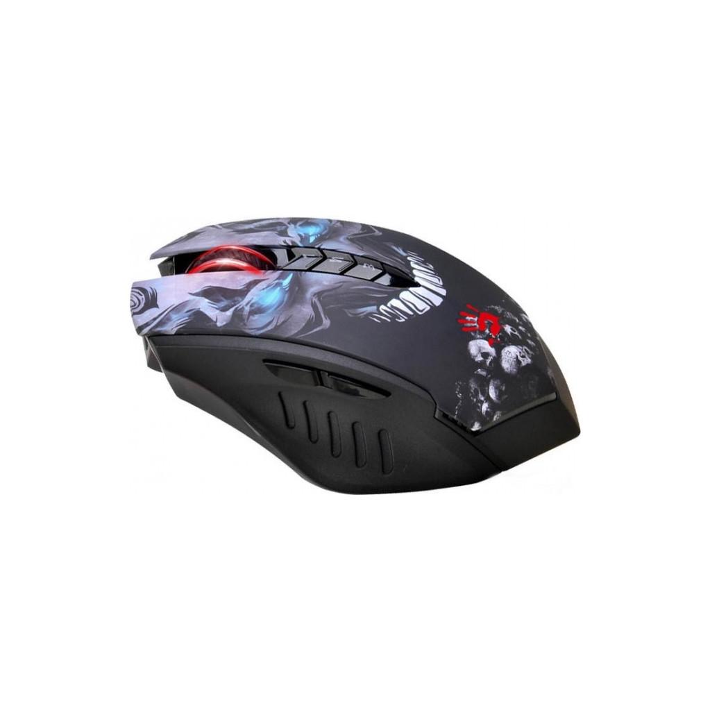 Мышь A4 Bloody R8-1/R80 черный оптическая (4000dpi) беспроводная USB игровая (8but)