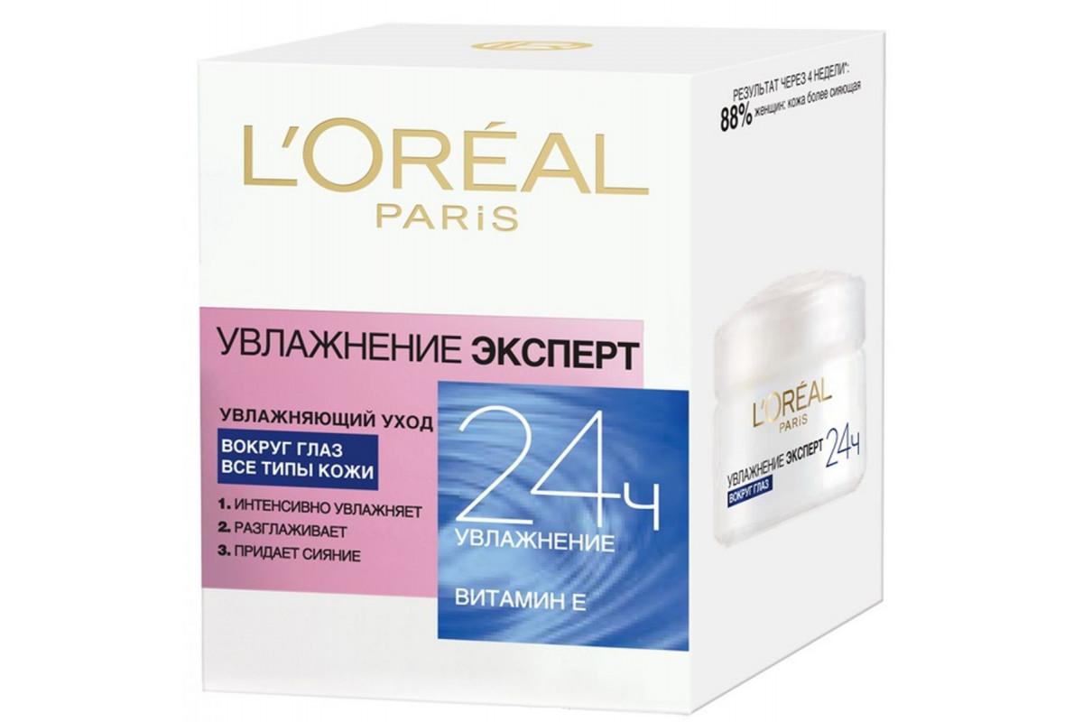 L'Oreal Dermo-Expertise Крем вокруг глаз Увлажнение эксперт 15мл