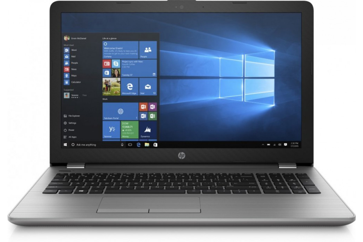 "Ноутбук HP 250 G6 (Core i5 7200U/8Gb/SSD256Gb/DVD-RW/Intel HD Graphics 620/15.6""/SVA/FHD (1920x1080)/Windows 10 Professional 64) silver"